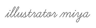 イラストレーターmiyaのサイトロゴ