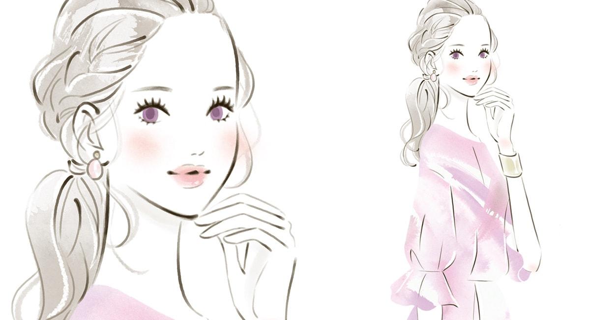 miya・女性向けイラスト・可愛い・おしゃれ・ファッション